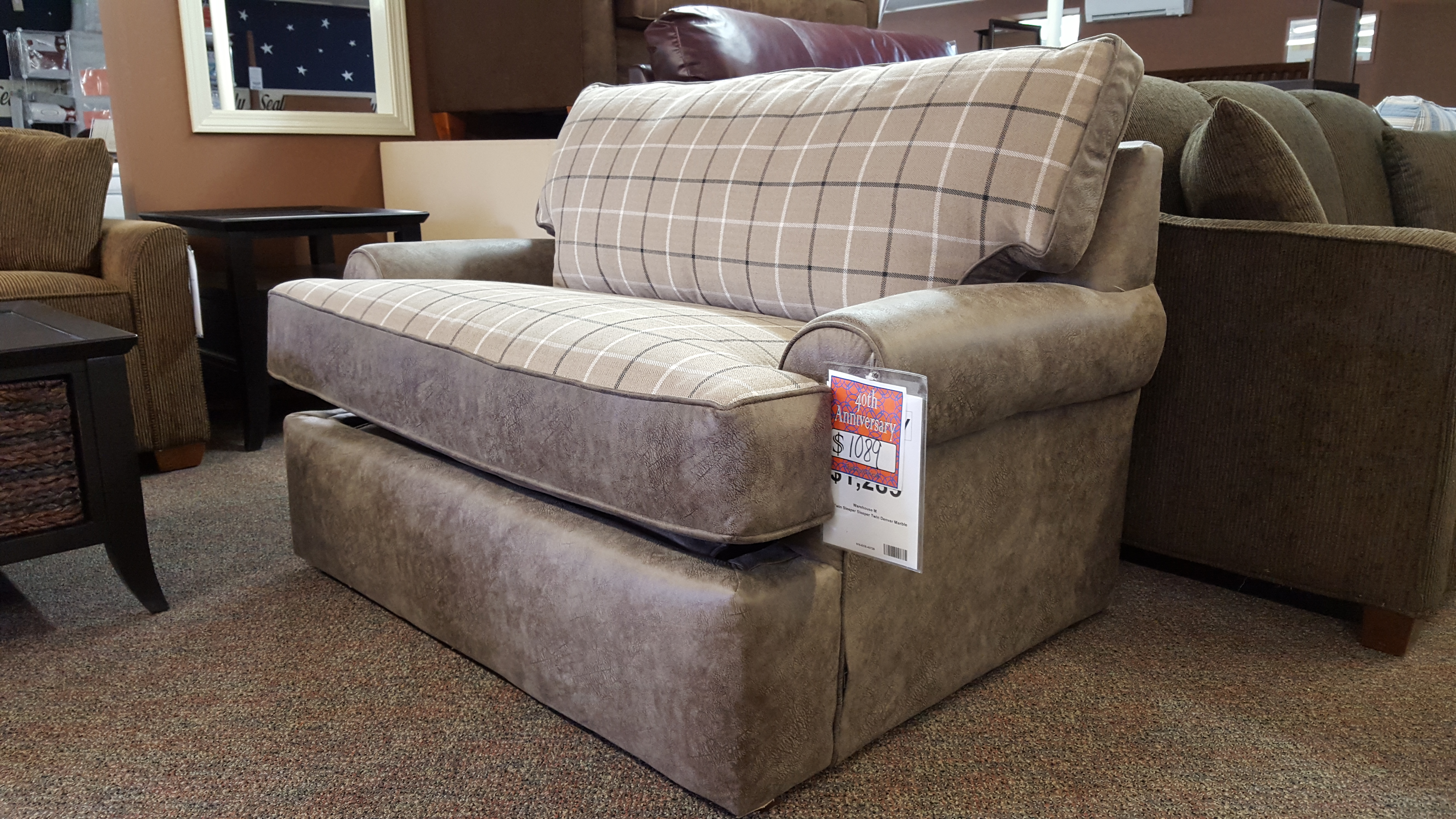 TWIN SIZE 7433 PULL OUT SLEEPER - Furniture Store Bangor ... - photo#21