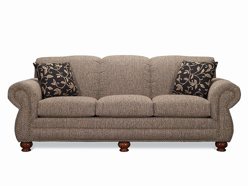 Lancer 3230 Traditional Sofa Set With Brass Tacks
