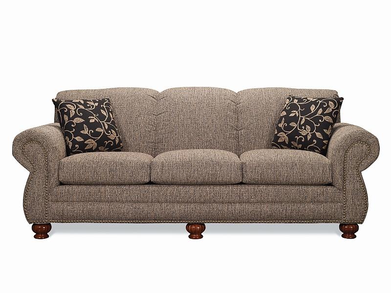 Lancer 3230 Traditional Sofa Set With Brass Tacks