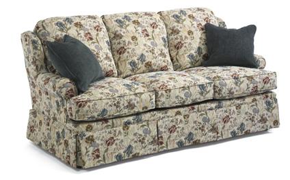 Flexsteel Danville Sofa Set Traditional Skirted Petite