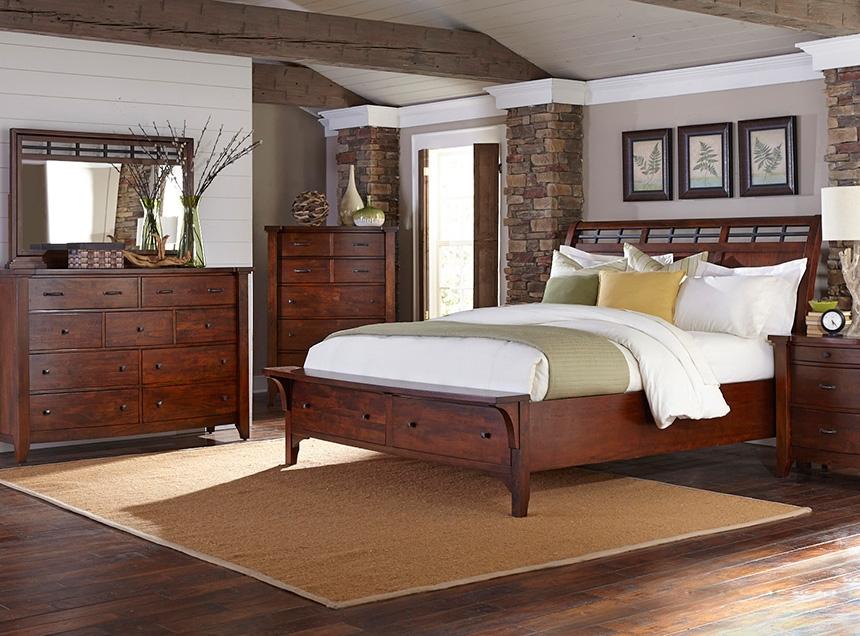 70 Series Bedroom Set Dresser Mirror Chest Nightstand