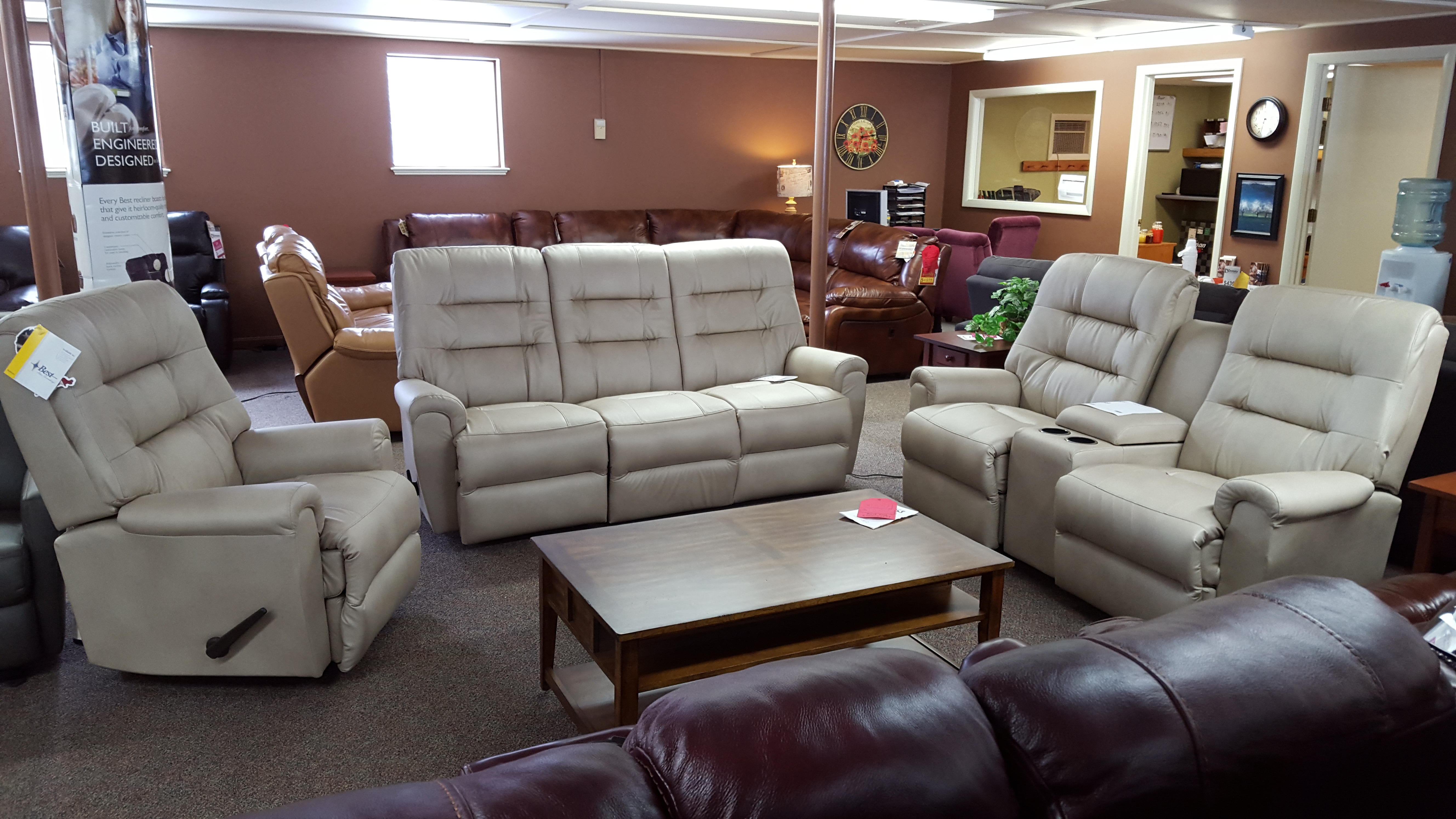 S820 Langston Reclining Set Furniture Store Bangor Maine Living Room Din